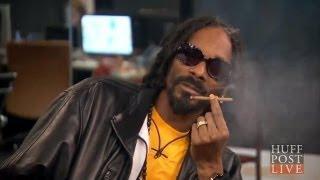 Snoop jara trawkę i daje pokaz zajebistego freestylu na żywo w telewizji!