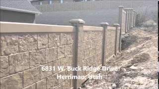 Rhinorock Concrete Fence