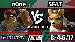 Video Smash Factor 6 SSBM - CLG | SFAT (Fox) vs. n0ne (Captain Falcon) - Smash Melee WS MP3, 3GP, MP4, WEBM, AVI, FLV Agustus 2017
