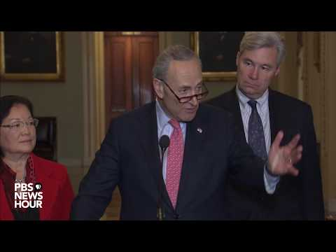 WATCH: Senate Democratic leaders hold news conference on spending bill, tax bill