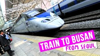 Download Lagu Riding the Train to Busan from Seoul ♦ Tour of KTX Train Mp3