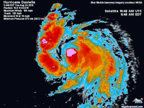 Hurricane Danielle 2010