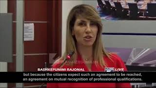 Majlinda Bregu, Secretary General of the RCC on recognition of professional qualifications in the Western Balkans
