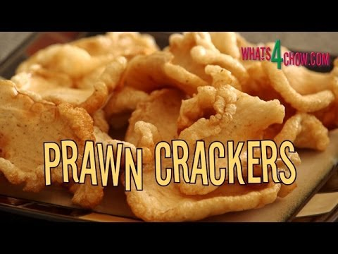 Thai Prawn / Shrimp Crackers. Homemade prawn / shrimp crackers. Home made prawn crisps.