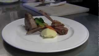 Vivalda prepares lamb at 2 Michelin Antica Corona Reale