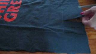 DIY: No Sew Pillow from Old T-Shirt - YouTube