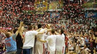 Bili smo na licu mesta, KKCZ je odbranila titulu, Luka Mitrović je podigao pehar namenjen novom-starom prvaku Srbije!