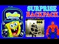 Video: SURPRISE BACKPACK Spongebob Squarepants Play Doh Eggs Batman Spiderman Ben 10 Pixar Cars