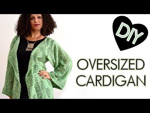DIY Oversized Cardigan, lockere Strickjacke selber nähen – Anleitung