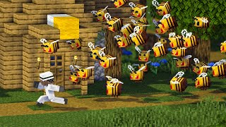 • Minecraft 1.15 - THE TOWN of 10,000 BEES!!! (Comedy Skit)