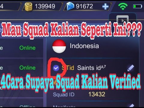 [REUPLOAD] 4 CARA AGAR SQUAD DI MOBILE LEGENDS VERIFIED / CEK LIST