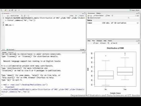 Grouped histograms/boxplots