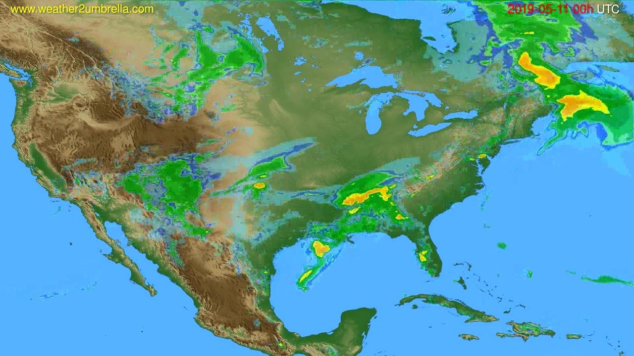 Radar forecast USA & Canada // modelrun: 12h UTC 2019-05-10