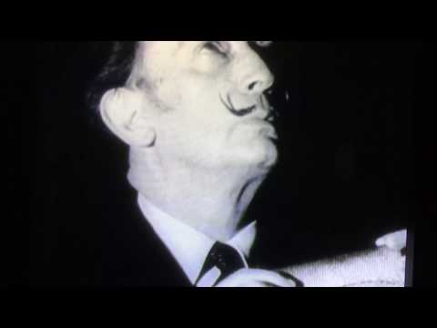 Weird Salvador Dali screen test by Andy Warhol 1966