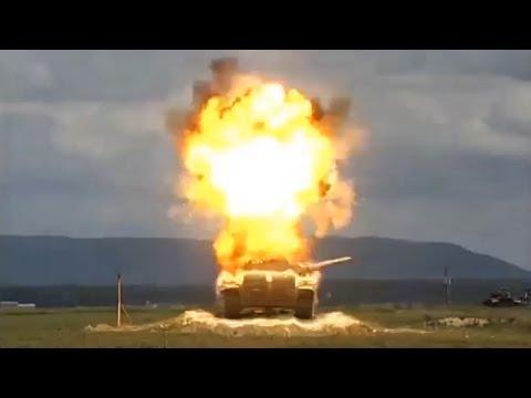 Veja o que acontece quando um míssil explode um tanque de guerra russo