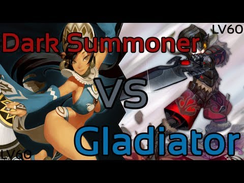Dragon Nest: Dark Summoner vs Gladiator (Level 60 Gameplay!)