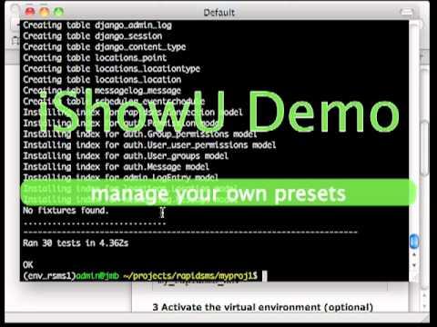 rapidsms virtualenv development install instructions