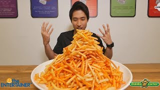 INSANE French Fries Mountain Challenge! | Over 1500 Fries Eaten?!