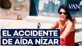 El accidente de AÍDA NÍZAR en moto mientras hacía un vídeo para Instagram