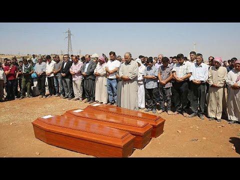 Κομπάνι:Θρήνος στις κηδείες του Αϊλάν,του Γκαλίπ και της μητέρας τους