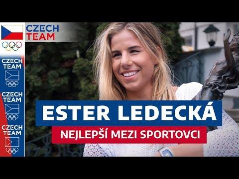 ESTER LEDECKÁ přebírá cenu Českého olympijského výboru!