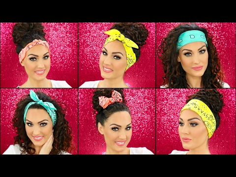 How To Wear Bandanas In Your Hair