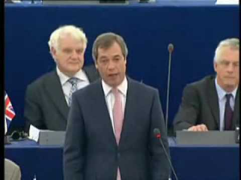 UKIP MEP Nigel Farage stunning attack on PM Gordon Brown !!! – March 2009