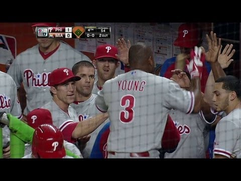 Video: PHI@MIA: D. Young cranks a solo homer in the fourth