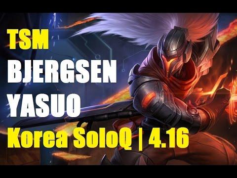 Korea - Runes & Masteries 00:17 TSM Bjergsen Yasuo vs Graves mid. feat Amazing Kha'Zix jungle   Korea SoloQ Patch 4.16   VOD full HD 1080p Playlist: http://www.youtube.com/playlist?list=PLVgS_BIOY01z1s3nft...