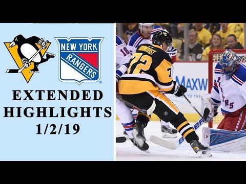 Video: Pittsburgh Penguins vs. New York Rangers | EXTENDED HIGHLIGHTS | 1/3/19 | NHL on NBC