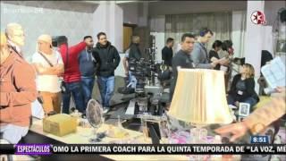 Angelique Boyer, Sebastian Rulli y Elenco de Tres Veces Ana Graban los promocionales.