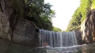 Domaso Italy  City pictures : Wasserfallspringen Domaso Italy