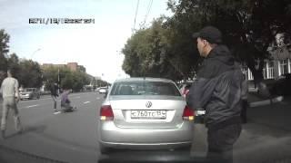 Драка на дороге в Новосибирске