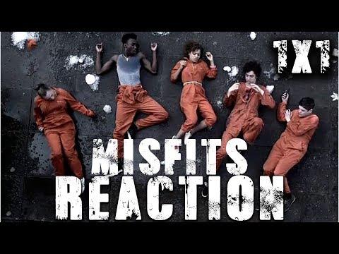"MISFITS Season 1 Episode 1 ""Episode #1.1"" 1X01 YT REACTION (With Sound now :D )"