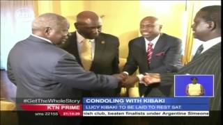 Leaders Console Kibaki And The Family At His Muthaiga Home.