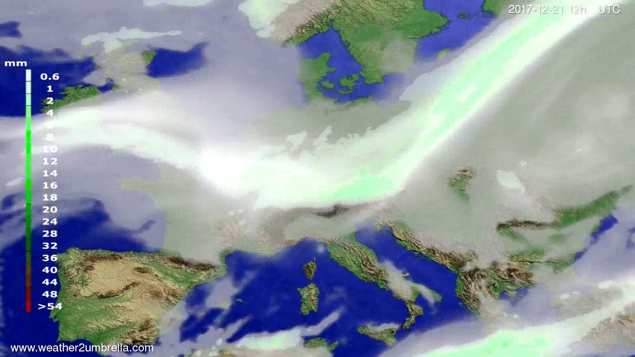 Precipitation forecast Europe 2017-12-17