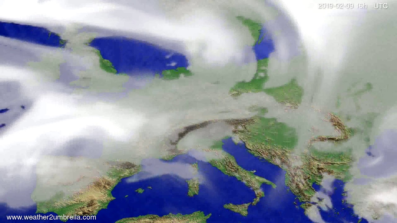 Cloud forecast Europe 2019-02-08