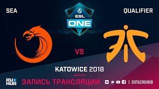 TNC vs Fnatic, ESL One Katowice SEA, game 3 [Mila, LighTofHeaveN]