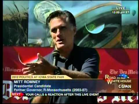 Romney said his wife drives a 'couple of Cadillacs' in Michigan on Friday. Watch videos of his other awkward moments.