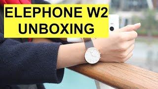 Elephone W2 Smartwatch Unboxing e collegamento
