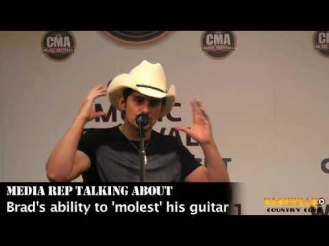 Brad Paisley Interview at CMA Fest 2010 talks Guitar Skills, UK Tour