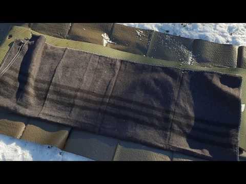 Wolldecke beim Bushcraft