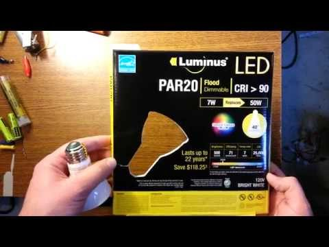 Luminus PAR20 LED Review and Installation