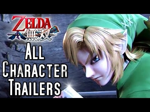 character - FIGHT FOR HYRULE! See all the new Character Trailers for Zelda Hyrule Warriors (Wii U)! The roster of playable characters is looking very promising indeed! F...