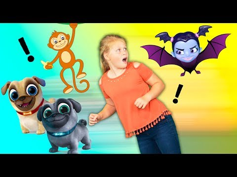 Assistant Goes To The Zoo To Search For Puppy Dog Pals And Vampirina Toys