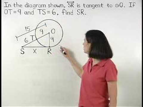 tangent - For a complete lesson on tangents and circles, go to http://www.MathHelp.com - 1000+ online math lessons featuring a personal math teacher inside every lesso...