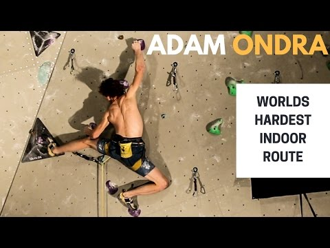 Adam Ondra on The Black Diamond Project - Worlds hardest indoor route (видео)