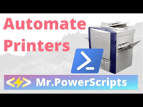Automate Installing Direct IP Printers with Powershell - And Some Other Stuff