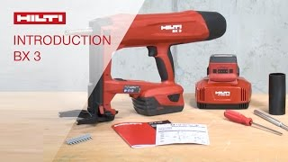INTRODUCTION to Hilti battery-actuated fastening tool BX 3 nai...