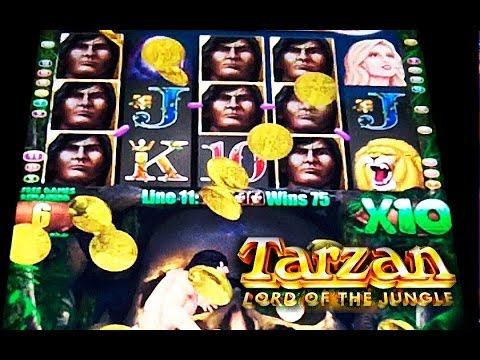 Aristocrat – Tarzan Lord of the Jungle – BIG WIN! – Slot Machine Bonus